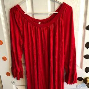 Tops - Women's red tunic